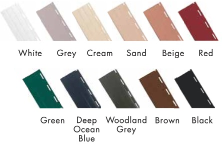 roller shutters profile colours